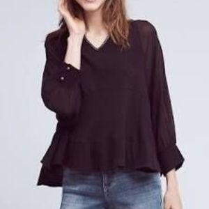 Akemi + Kin | Fenn Dolman Black Sheer Sleeve Top